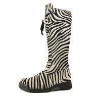 Bumper - Bumper 07 Lang Vinterstøvle med Zebra Print