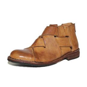 Bubetti - Bubetti 9671 Lux 541 Cognac kort støvle med bred flet