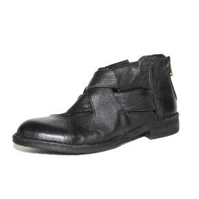 Bubetti - Bubetti 9671 Lux Nero Sort kort støvle med bred flet