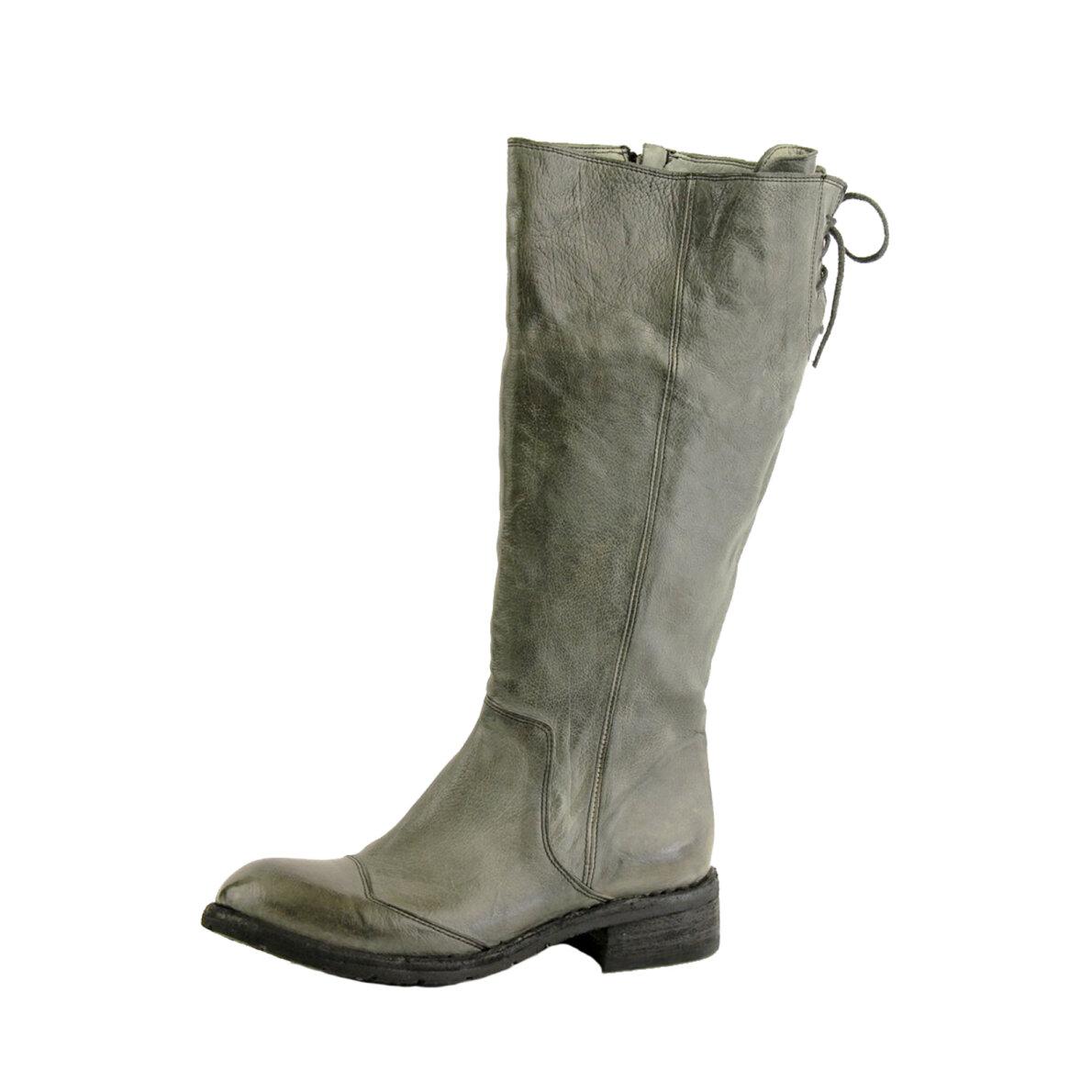 PIEDI Bubetti 9694 sort lang dame støvle i vasket skind