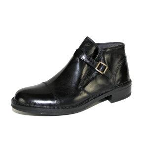 Bubetti - Bubetti 6506 Smart.Nero sort kort støvle med rem