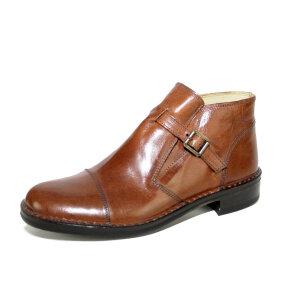 Bubetti - Bubetti 6506 Smart.756 cognac kort støvle med rem