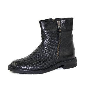 Bubetti 6912 - sort støvlet m/flet og lynlåse - Køb på Piedi.dk