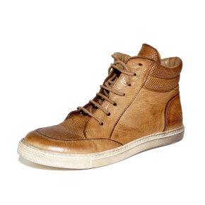 Bubetti - Bubetti 9539 Lux.541 lys brun dame sneaker i skind