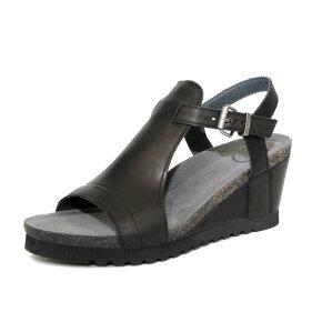 Cashott 17083 sort høj sandal m. spænde - Køb på Piedi.dk
