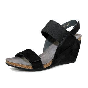 Cashott 17106 sort sandal m. elastik - Køb på Piedi.dk