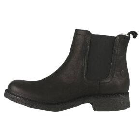 Cashott - Cashott 10250 sort dame chelsea støvle med foer