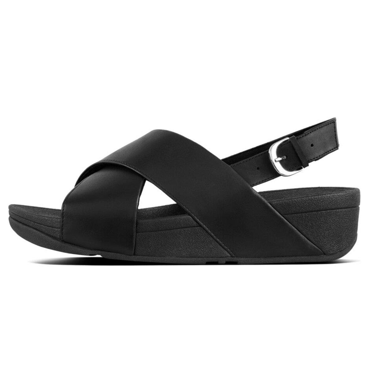 PIEDI Fitflop Lulu Cross Sort dame sandal med rem Piedi.dk