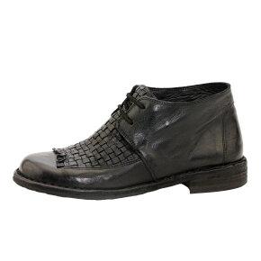 Bubetti - Bubetti 9803 kort dame støvle i sort med flet