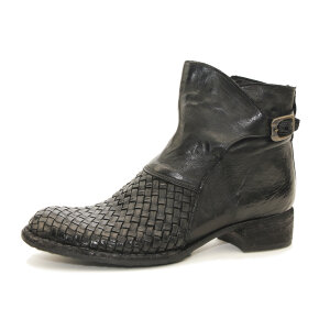 Bubetti - Bubetti 9797 Lux Nero Sort dame støvle med flet