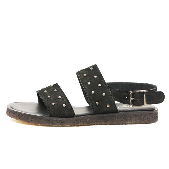 Angulus - Angulus 5544-101 Sort Sandal med nitter