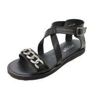 Angulus - Angulus 5546-101 Sort Sandal med Bidsel