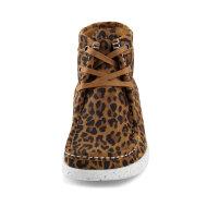 Nature  - Nature Emma Leopard Kort Støvle i Ruskind med leopardprint