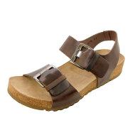 Lofina - Lofina 808 brun dame sandal med fodseng