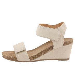 Cashott 13011 Beige Sandal med Kilehæl - Cashott Sandaler