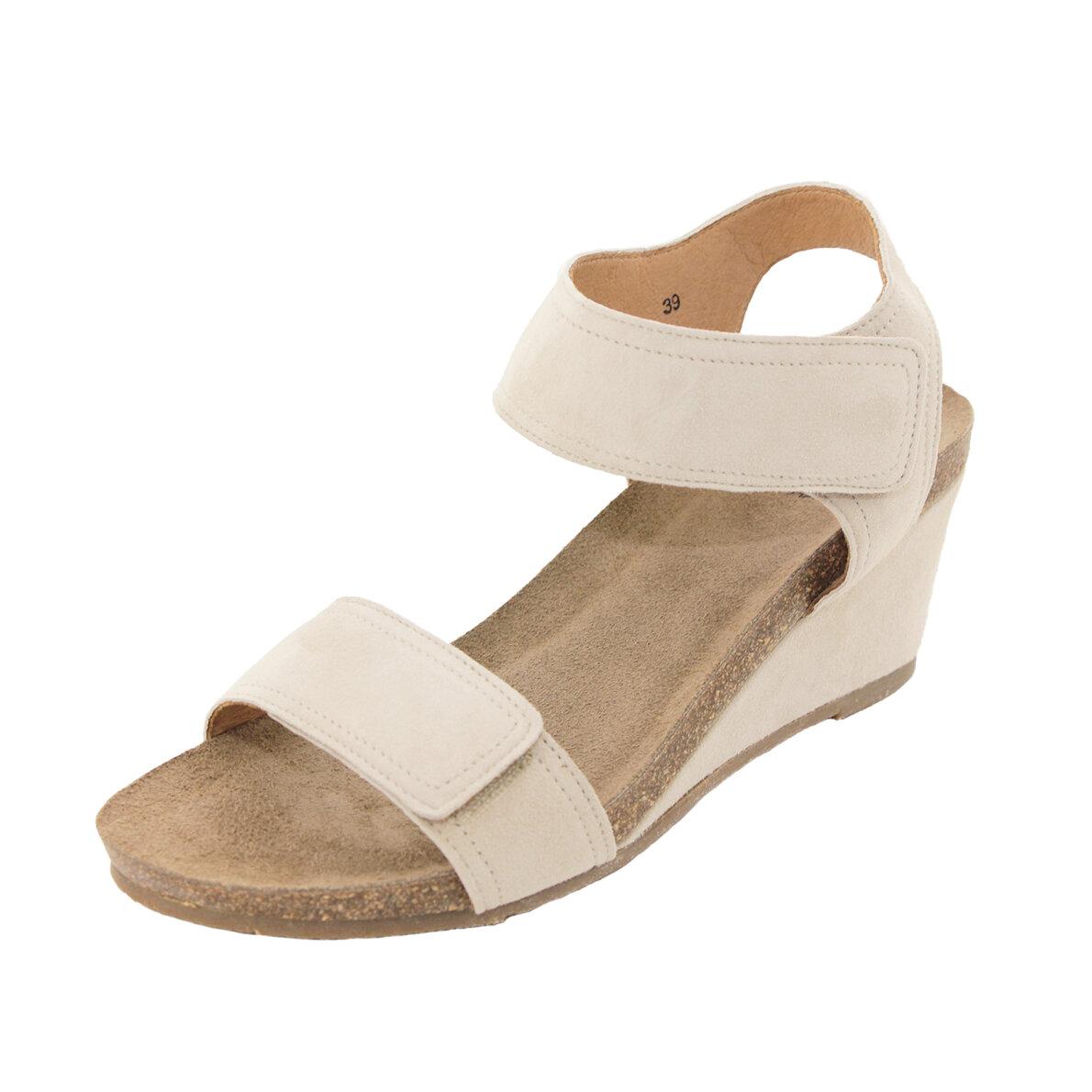 24ff5e06 ... Cashott - Cashott 13011 Beige Sandal med Kilehæl