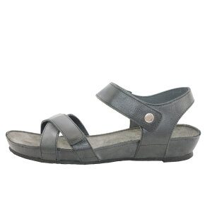 Cashott 17130 Sort Sandal Med Krydsende Remme Og Velcro - Cashott Sandaler
