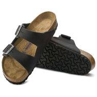Birkenstock - Birkenstock Arizona Oiled Leather sort Herre sandal