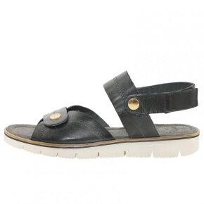 Cashott 19002 Sort Sandal med Bagrem - Cashott Sandaler - Piedi