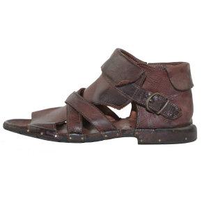 Bubetti - Bubetti 3487 Kastanjebrun Gladiator Dame Sandal med Hælkappe