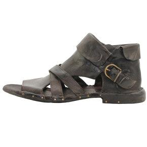 Bubetti - Bubetti 3487 mørkebrun gladiator sandal i skind