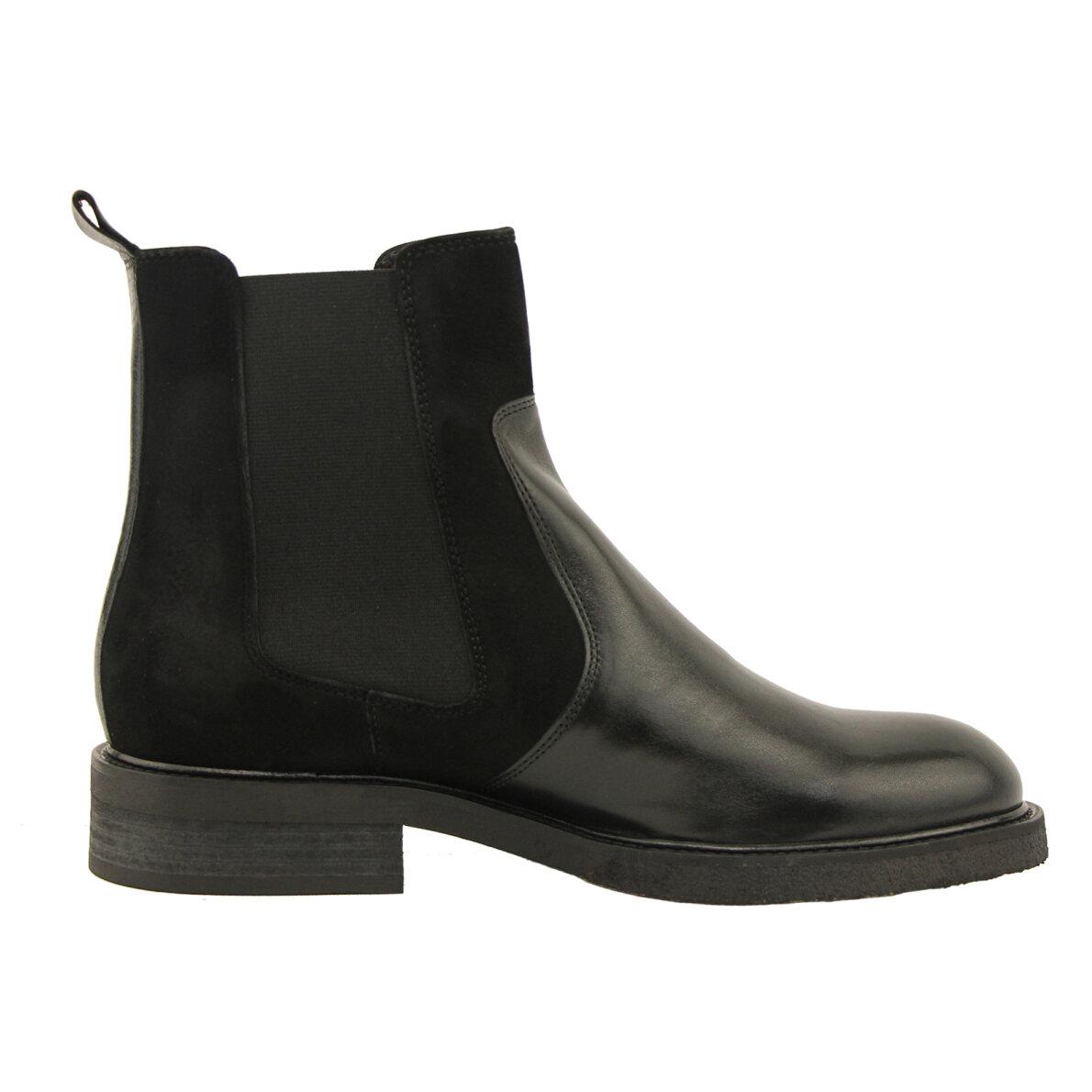 0fbf7a7b ... Billi Bi - Billi Bi 7424 Sort Chelsea Støvle i skind og ruskind ...
