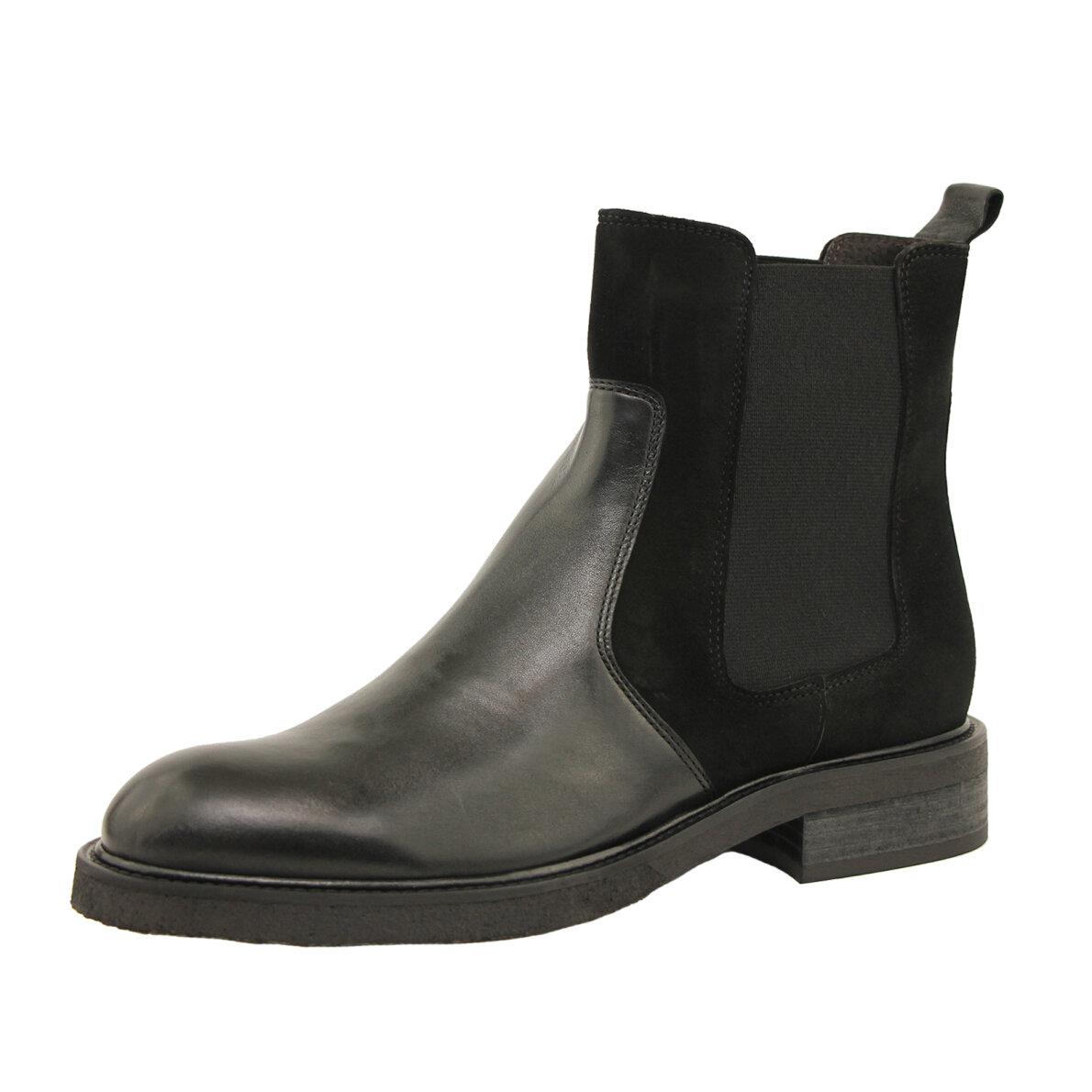 8700ddaa ... Billi Bi - Billi Bi 7424 Sort Chelsea Støvle i skind og ruskind