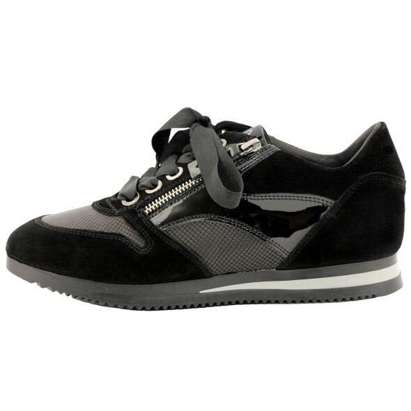 DL Sport - DL Sport 4070 sporty sneaker i sort ruskind