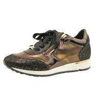 DL Sport - DL Sport 4048 eksklusiv sneaker i brun kobber skind