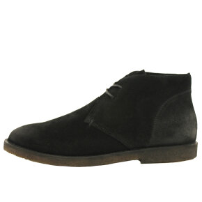 Cashott - Cashott 18324 sort dame støvle i ruskind