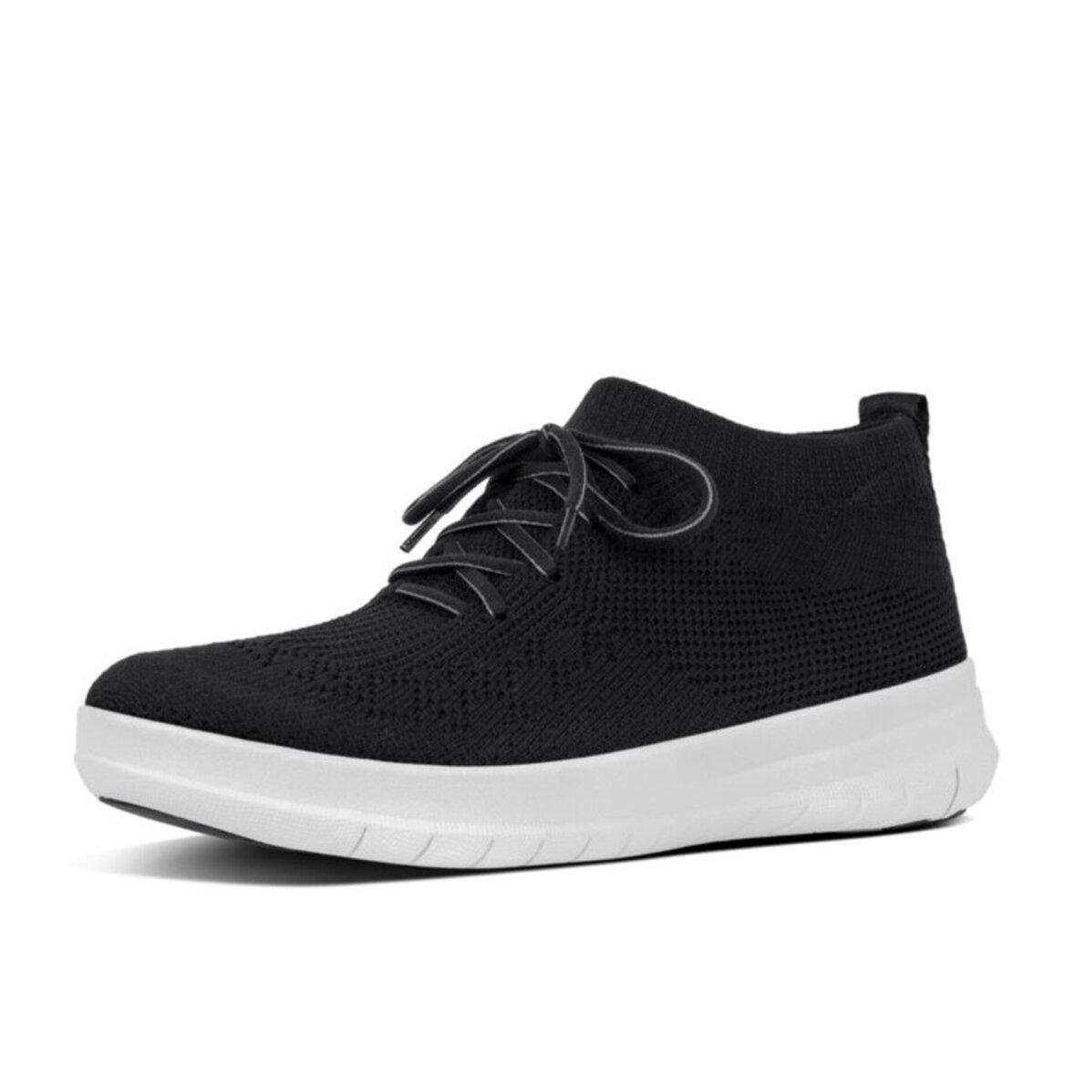 87024242bc23 Fitflop - Fitflop Uberknit sort dame sneaker med hvid sål ...