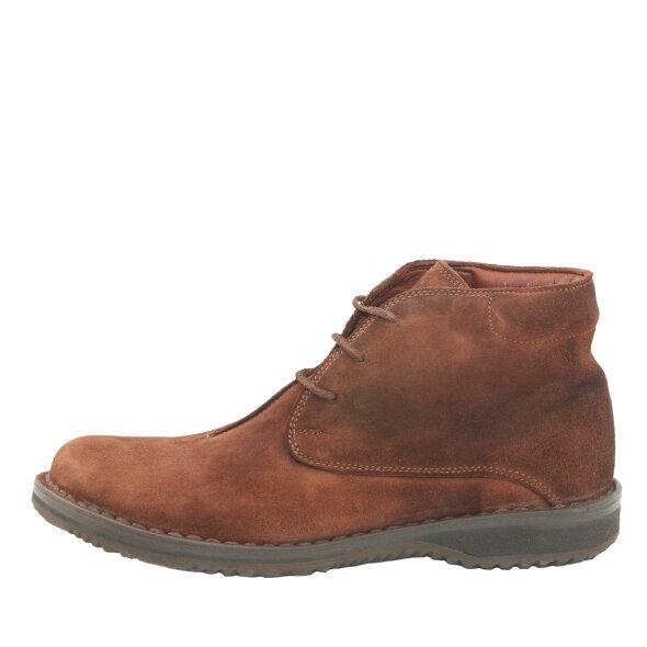 Bubetti - Bubetti 9843 Velour 538 brun snørestøvle i ruskind