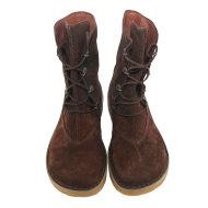 Bubetti - Bubetti 9832 Para Velour 538 brun snørestøvle i ruskind med rågummisål