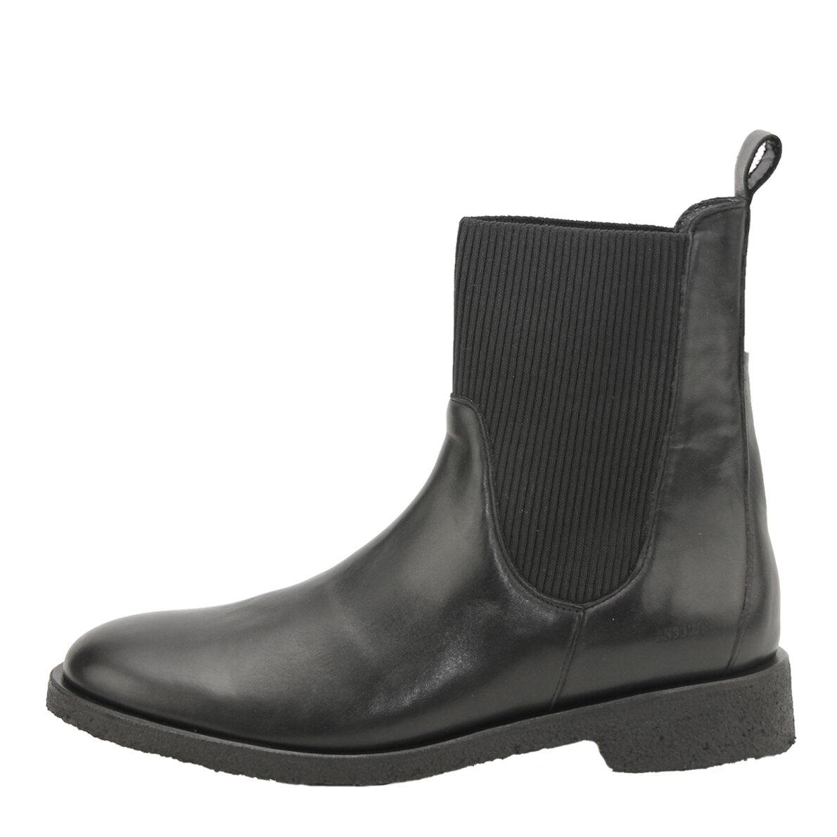 PIEDI Angulus 7317 103 Sort Støvle med elastik i siden