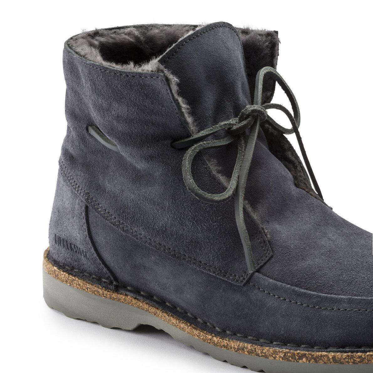 f631660287a ... Birkenstock - Birkenstock Bakki Grå dame støvle med for ...