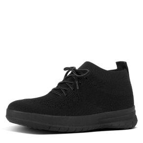 Fitflop - Fitflop Uberknit Sort sneaker med sort sål
