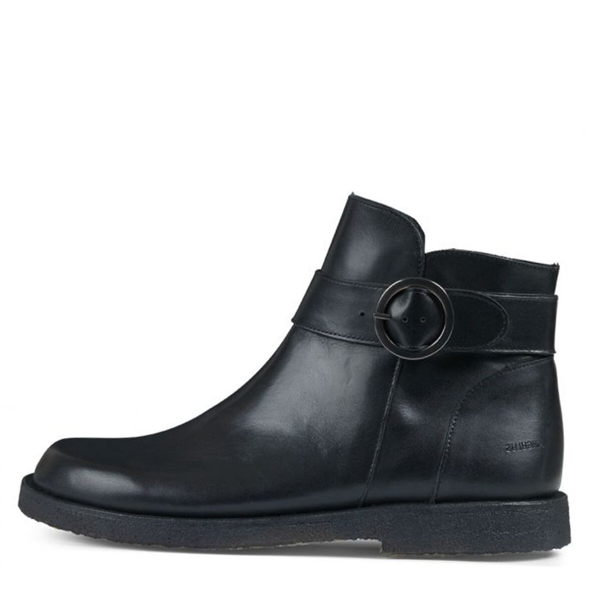 PIEDI Angulus 7496 101 sort støvle med spænde og lynlås