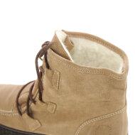 Cashott - Cashott 18110 beige vinterstøvle i ruskind med uldfoer