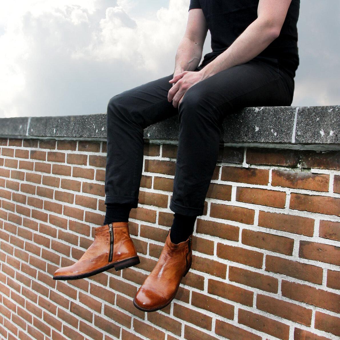 PIEDI Bubetti 9752 Lux 541 Cognac Dame Cowboy Støvle