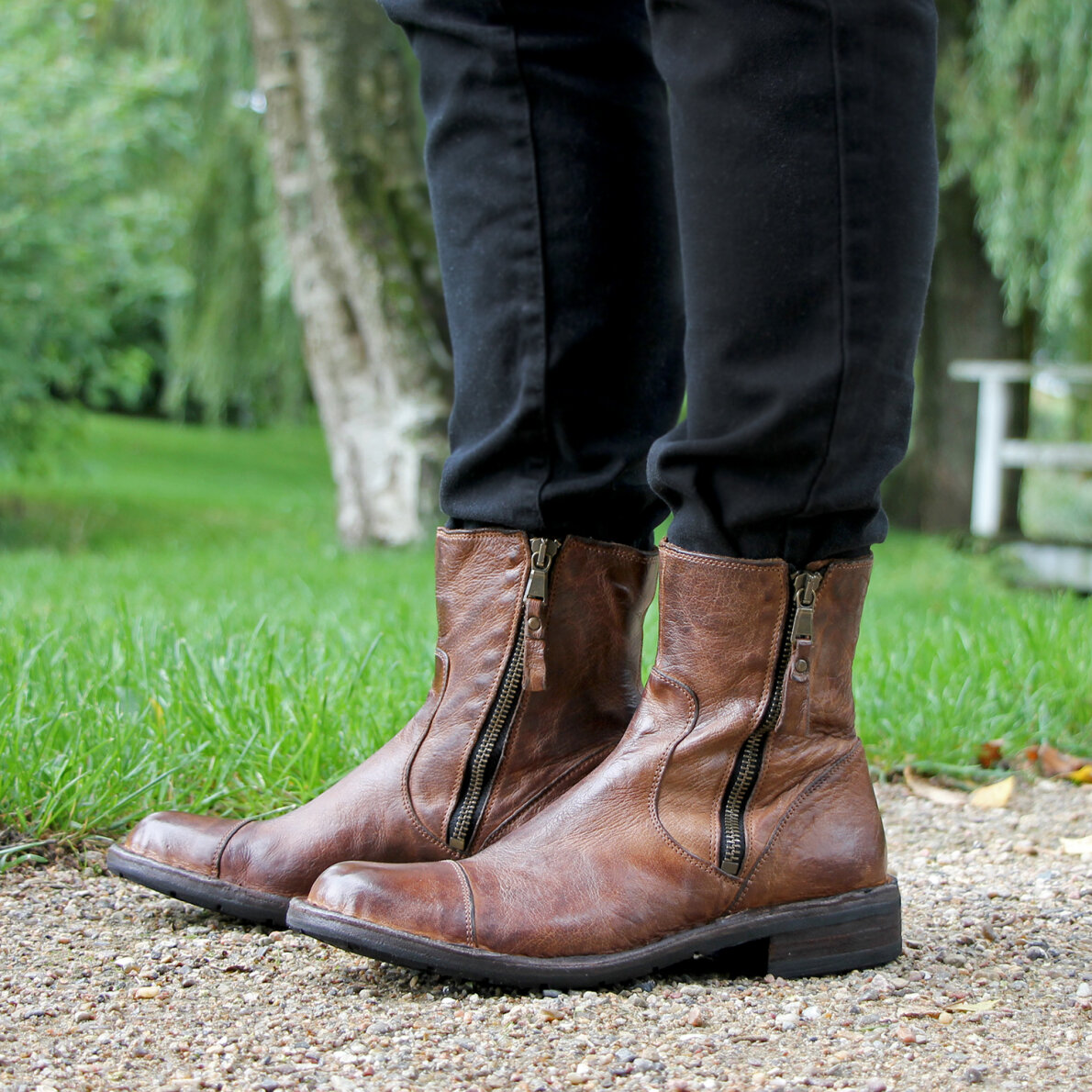 78884c90f91 ... Bubetti - Bubetti 6682 lys brun damestøvle i skind