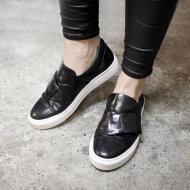 Billi Bi - Billi Bi 8611 sort dame loafer med sneaker sål