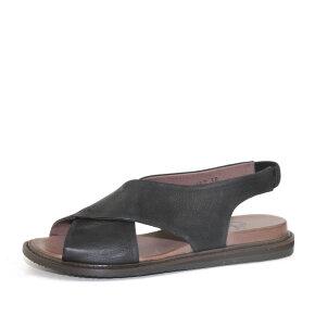 Lofina - Lofina E9-057 sort dame sandal med krydsende remme