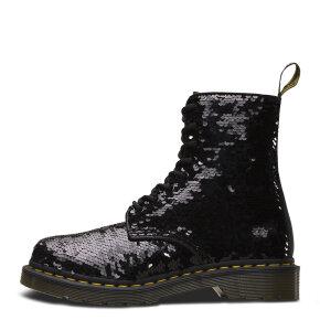 Dr. Martens - Dr. Martens 1460 PASCAL SEQUIN sort dame støvle med pailletter