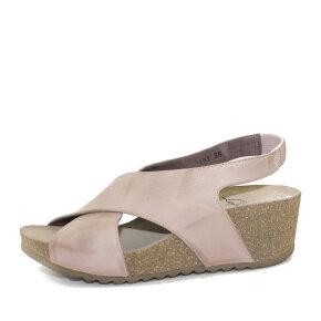 Lofina - Lofina E5-191 rosa dame sandal med kilehæl