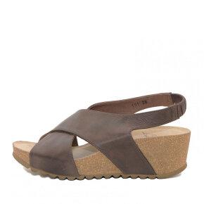 Lofina - Lofina E5-191 brun dame sandal med kilehæl