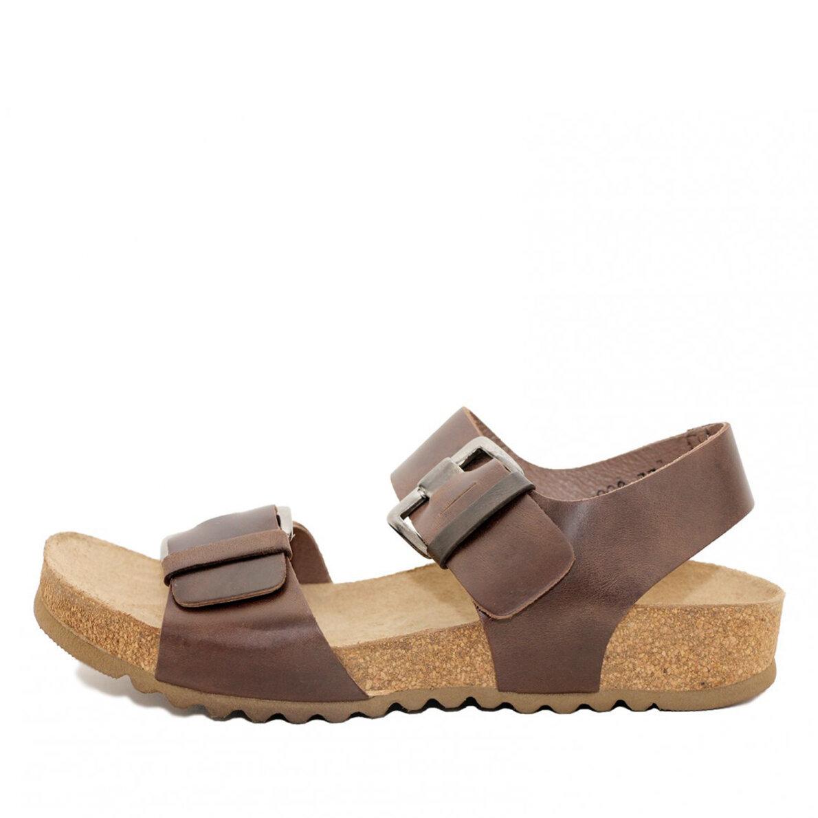 2c96d841b9e3 Lofina 808 - Brun dame sandal med fodseng - Piedi.dk