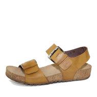 Lofina - Lofina 808 gul dame sandal med fodseng