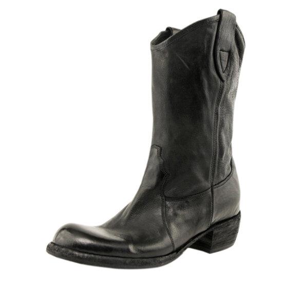 Bubetti - Bubetti 9752 Lux Nero Sort Cowboy Støvle