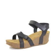 Cashott - Cashott 20271 sort dame sandal med kilehæl