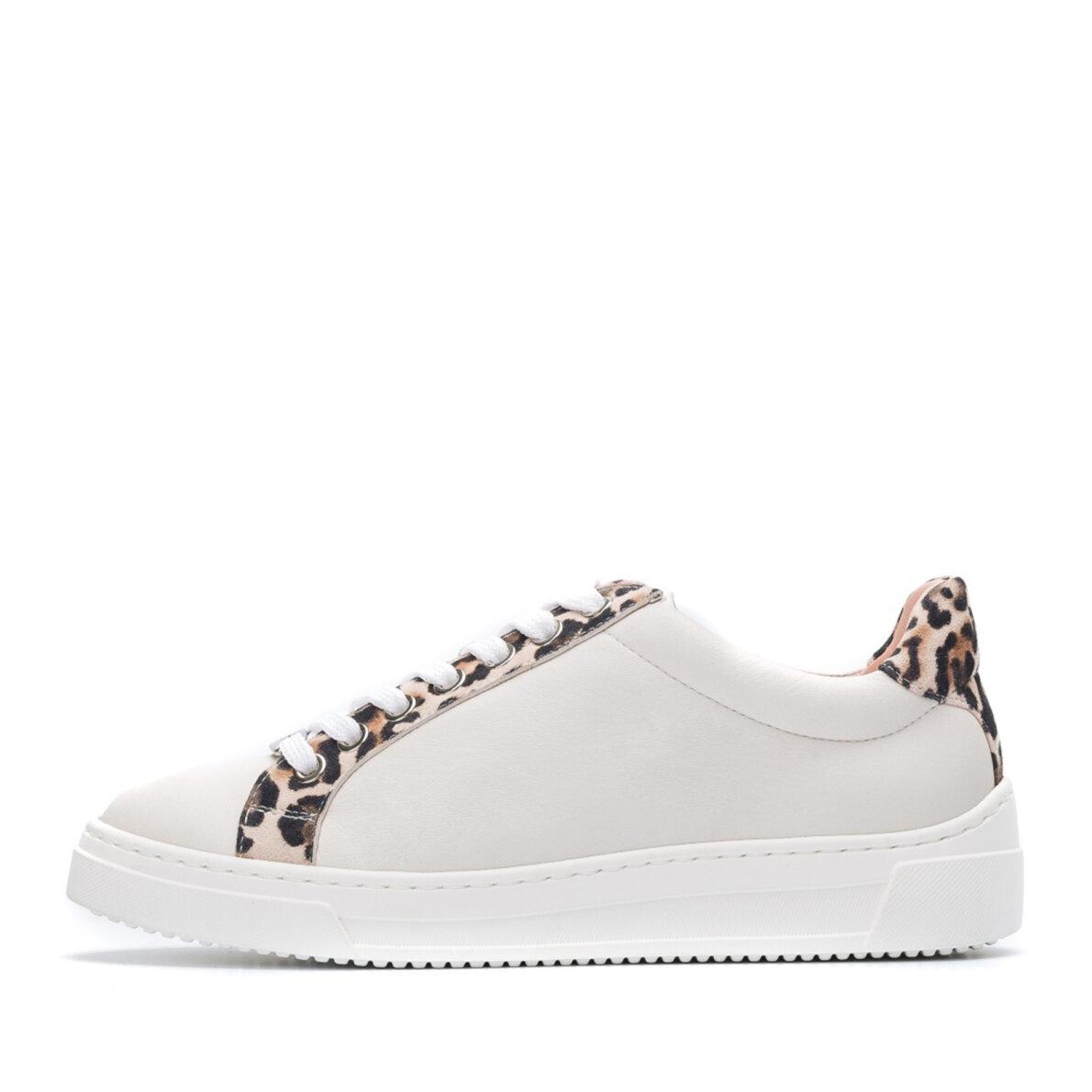 3f56d755 Unisa Franci - Beige dame sneaker med leopard print - Piedi.dk